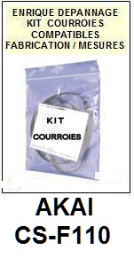 AKAI-CSF110 CS-F110-COURROIES-COMPATIBLES