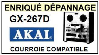 AKAI-GX267D GX-267D-COURROIES-ET-KITS-COURROIES-COMPATIBLES