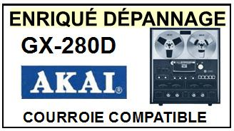 AKAI GX280D GX-280D Courroie Compatible Magnétophone