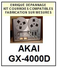 AKAI-GX4000D GX-4000D-COURROIES-COMPATIBLES