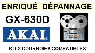 AKAI-GX630D GX-630D-COURROIES-COMPATIBLES