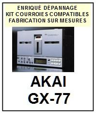 AKAI-GX77 GX-77-COURROIES-COMPATIBLES