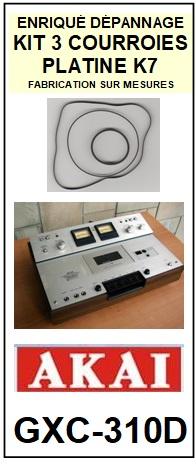 AKAI-GXC310D GXC-310D-COURROIES-ET-KITS-COURROIES-COMPATIBLES