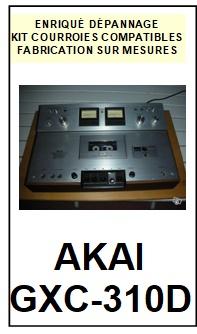 AKAI-GXC310D GXC-310D-COURROIES-COMPATIBLES
