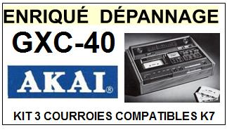 AKAI-GXC40 GXC-40-COURROIES-ET-KITS-COURROIES-COMPATIBLES