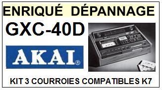 AKAI-GXC40D GXC-40D-COURROIES-COMPATIBLES