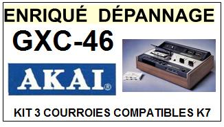 AKAI-GXC46 GXC-46-COURROIES-COMPATIBLES
