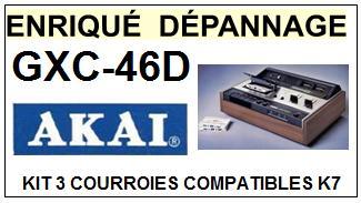AKAI GXC46D GXC-46D kit 3 Courroies Platine K7 <small>13-11</small>