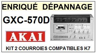 AKAI-GXC570D GXC-570D-COURROIES-ET-KITS-COURROIES-COMPATIBLES