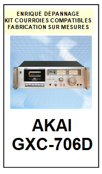 AKAI-GXC706D GXC-706D-COURROIES-COMPATIBLES