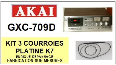 AKAI<br> GXC709D GXC-709D kit 3 courroies (set belts) pour platine K7 <br><small>a 2015-03</small>