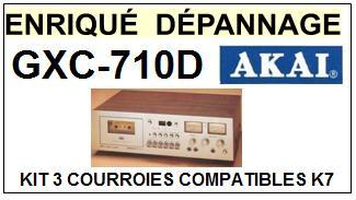 AKAI-GXC710D GXC-710D-COURROIES-COMPATIBLES