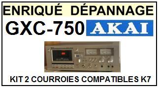 AKAI<br> GXC750 GXC-750 kit (set belts) 2 courroies pour platine k7<small> 2015-09</small>