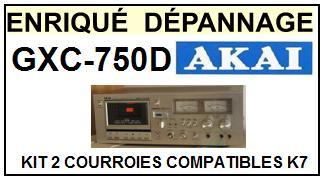 AKAI-GXC750D GXC-750D-COURROIES-COMPATIBLES