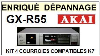 AKAI-GXR55 GX-R55-COURROIES-COMPATIBLES