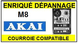 AKAI-M8-COURROIES-COMPATIBLES