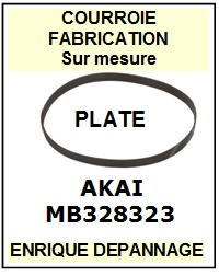 AKAI MB328323  <br>courroie plate référence akai (flat belt manufacturer number)<small> 2015-12</small>