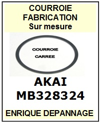 AKAI MB328324 <BR>Courroie carrée référence akai (square belt manufacturer number)<small> 2015-12</small>