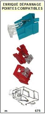 AKAI-N67BL N-67BL-POINTES-DE-LECTURE-DIAMANTS-SAPHIRS-COMPATIBLES