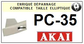 AKAI-PC35-POINTES-DE-LECTURE-DIAMANTS-SAPHIRS-COMPATIBLES