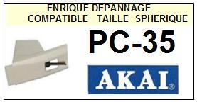 AKAI PC35 PC-35 <br>Pointe diamant sphérique (stylus)<small> 2015-12</small>