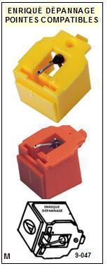 AKAI-PC82 PC-82-POINTES-DE-LECTURE-DIAMANTS-SAPHIRS-COMPATIBLES