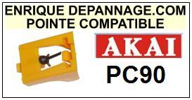 AKAI <br>PC90 PC-90 Pointe sphérique pour tourne-disques <BR><small>se 2014-11</small>
