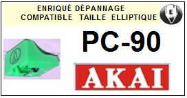 AKAI<br> PC90 PC-90 Pointe (stylus) Diamant Elliptique <br><small>se 2015-06</small>
