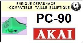 AKAI-PC90-POINTES-DE-LECTURE-DIAMANTS-SAPHIRS-COMPATIBLES