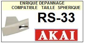 AKAI-RS33 RS-33-POINTES-DE-LECTURE-DIAMANTS-SAPHIRS-COMPATIBLES