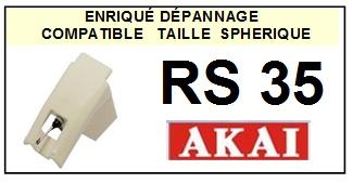 AKAI-RS35 RS-35-POINTES-DE-LECTURE-DIAMANTS-SAPHIRS-COMPATIBLES