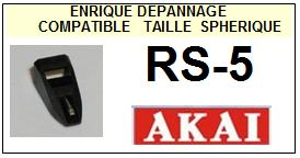 AKAI RS5 RS-5 Pointe Diamant sphérique <BR><small>se 2014-08</small>