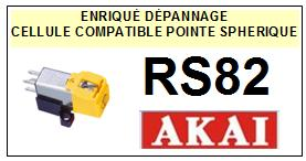 AKAI<br> RS82 Cellule (cartridge) diamant Sphérique<small> 2015-09</small>