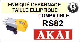 AKAI  RS82    Cellule de remplacement  avec diamant Elliptique