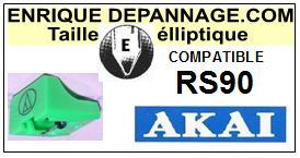 AKAI<br> RS90 Pointe (stylus) Diamant Elliptique <br><small>se 2015-08</small>