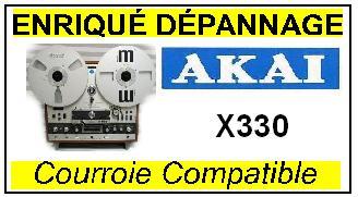 AKAI  X330 courroie compatible magnetophone AKAI   X330