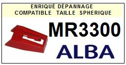 ALBA<br> MR3300 Pointe (stylus) sphérique pour tourne-disques <BR><small>a 2015-09</small>