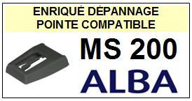 ALBA-MS200  MS-200-POINTES-DE-LECTURE-DIAMANTS-SAPHIRS-COMPATIBLES
