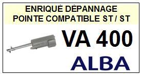 ALBA platine  VA400    Pointe de lecture Compatible saphir réversible (stéréo/stéréo )