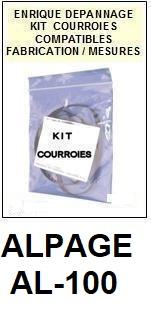 ALPAGE-AL100 AL-100-COURROIES-ET-KITS-COURROIES-COMPATIBLES