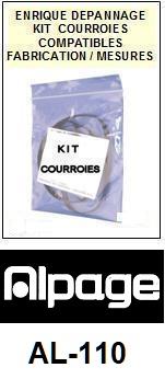 ALPAGE-AL110 AL-110-COURROIES-ET-KITS-COURROIES-COMPATIBLES