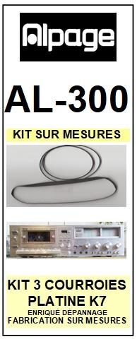 ALPAGE-AL300 AL-300-COURROIES-ET-KITS-COURROIES-COMPATIBLES