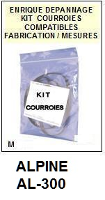 ALPINE<br> AL300 AL-300 kit (set belts 3 Courroies Platine K7 <br><small>a 2015-07</small>