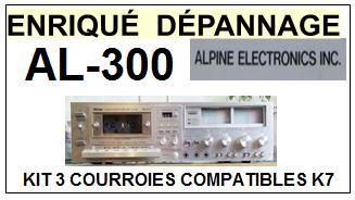 ALPINE-AL300 AL-300-COURROIES-COMPATIBLES