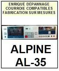 ALPINE-AL35 AL-35-COURROIES-COMPATIBLES