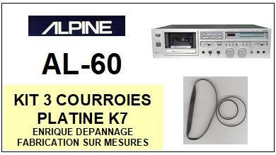 ALPINE-AL60-COURROIES-COMPATIBLES