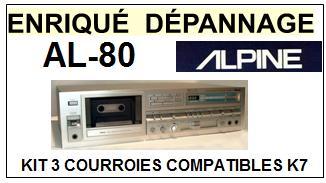 ALPINE-AL80-COURROIES-COMPATIBLES
