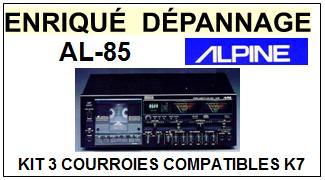 ALPINE AL85 AL-85 kit 3 Courroies Platine K7 <br><small> 2014-01</small>