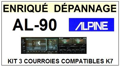 ALPINE-AL90 AL-90-COURROIES-COMPATIBLES