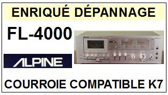 ALPINE-FL4000 FL-4000-COURROIES-COMPATIBLES